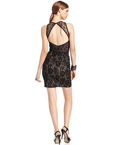 MM Couture Dress, Sleeveless Cutout Lace - Womens Dresses - Macy's