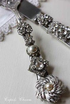 jewels on silverware