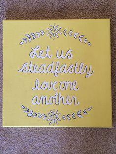 Let us steadfastly love one another canvas tri delta