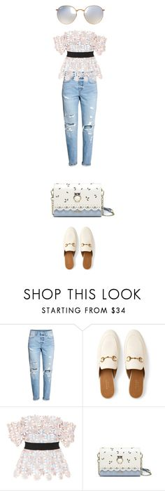 """""""."""" by bonolon on Polyvore featuring Gucci, self-portrait and Ray-Ban"""
