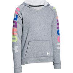 UA Favorite Fleece Girls Hoodie (True Gray Heather)