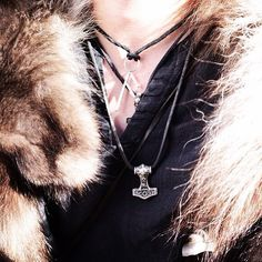 @northernaesthetic Wearing his Sterling silver #Ansuz #rune pendant from thewickedgriffin.com - thewickedgriffin.com