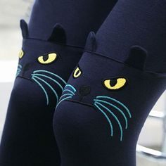 Fashion Kitty Cat Whiskers Stretch Leggings