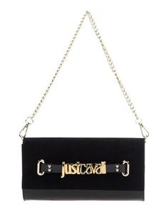 JUST CAVALLI Handbag. #justcavalli #bags #shoulder bags #clutch #suede #hand bags #