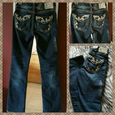 Silver Jeans Suki Flap Jeans New Great quality & style Mid rise, curvy fit, relaxed hip & thigh Slim bootcut leg. Cotton spandex Silver Jeans Jeans Boot Cut