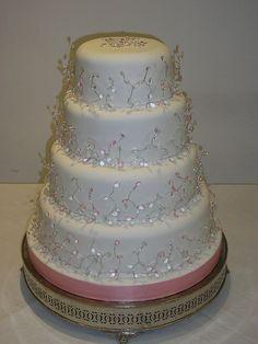 pink diamond wedding cakes by www.cakecorner.net, via Flickr