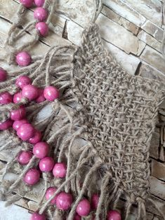 Gray and purple triangle halter hand crocheted gypsy boho festival Summer top size small