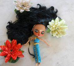 Custom OOAK Tanned Blythe Doll