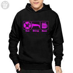 Men's Eat Sleep Beer Hoodie Sweatshirt Funny Pullover (*Amazon Partner-Link)