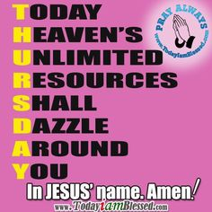 Have a blessed Thursday !