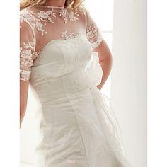 A-line Jewel Court Train Lace Wedding Dress Wedding Dresses Wedding Dresses Under 100, Cheap Wedding Dress, Lace Wedding, Bridal Gowns, One Shoulder Wedding Dress, Train, Jewels, Collection, Fashion