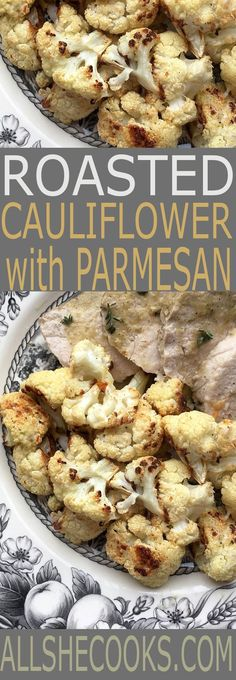 Roasted Cauliflower with Parmesan is a little spicy and a perfect side dish to pair with pork, chicken and so many other main dishes.