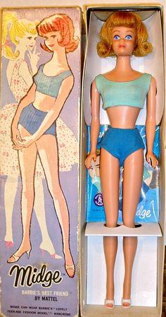 Midge, Barbie's friend, first released in 1963