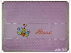 Toalha de lavabo personalizada borboleta #toalhaescolar