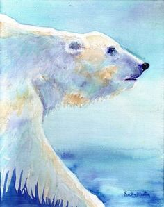 WATER COLOR POLAR BEARS | Polar Bear Original Watercolor