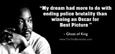 If I spoke to MLK about the Oscar snub I have strong feeling he'd say something along these lines.