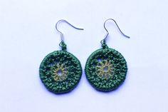 mataza mataza on Etsy Etsy Seller, Crochet Earrings, Drop Earrings, Creative, Earrings, Hand Made, Crocheting, Drop Earring