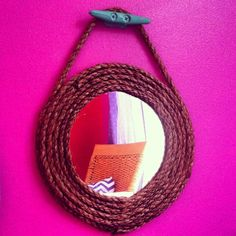 Rope boat cleat wall mirror nautical beach island by CoconutBeech, $16.00