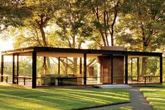 Philip Johnsons Glass House, New Canaan, Connecticut, built for himself in 1949