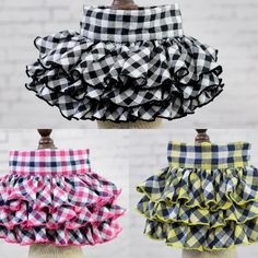 Fashion Plaid Floral Small Dog Skirts Puppy Pet Cat wedding dress Summer dog clothes pet clothing for chihuahua teddy African Dresses For Kids, Dresses Kids Girl, Dog Dresses, Kids Outfits, Kids Frocks Design, Baby Frocks Designs, Baby Girl Dress Patterns, Baby Dress Design, Girl Dog Clothes