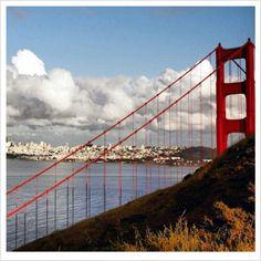 View of San Francisco through Golden Gate Bridge