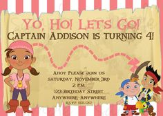 Jake and the Neverland Pirates Birthday by LoveLifeInvites on Etsy