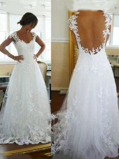 modabridal.co.uk SUPPLIES Tailormade Floor-Length A-Line Tulle Lace Backless Beach Wedding Dress Shop By Style (3)