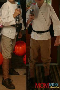 How to pull together a DIY Star Wars Luke Skywalker costume for kids.
