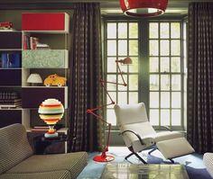 Playful Modern Library // from The World of Muriel Brandolini Interiors // Photographer Pieter Estersohn