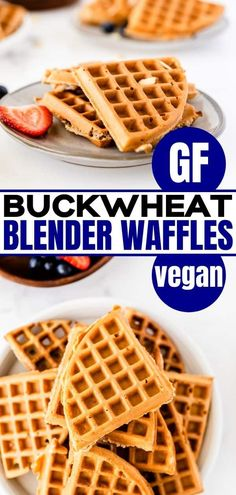 Are you looking for gluten-free waffles? These whole-grain buckwheat blender waffles from Whole New Mom are a great-tasting, easy recipe for crispy waffles, full of nutrition, and a breeze to make. There is a vegan option to this recipe.