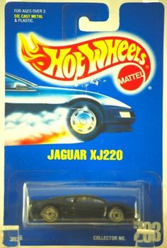 Mattel Hot Wheels 1991 1:64 Scale Black Flake Jaguar XJ220 Die Cast Car Collector #203 by Hot Wheels. $9.98. 1:64 Scale Die Cast Metal - Vintage 20 Years Old. Jaguar XJ220 - Metallic Black - Item #3026. New - Mint - Rare - Limited Edition - Collectible. Out of Production - Collector Perfect - Price Tag Residue. 1991 - Mattel - Hot Wheels - Collector #203. 1991 - Mattel - Vintage Hot Wheels - Jaguar XJ220 - Black Metallic Flake Paint - 1:64 Scale Die Cast Metal - Item #...