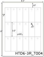 """1.25 x 3 Rectangle Perforated Hang Tag Sheet<BR>w/ 1/4"""" pre-drilled hole<BR><B>USUALLY SHIPS SAME DAY</B>"""