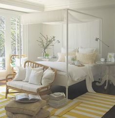 great use  of the smaller stripped rugs