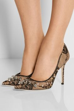 Heel measures approximately 100mm/ 4 inches Black lace Slip onSmall to size. See Size & Fit notes.