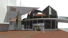 Fietsenstalling, wetskant, nieuwe station Zaandam