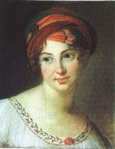 Mille de Pront, 1818 by Elisabeth Vigee-Lebrun. This looks like it could have been painted in the 1930s.