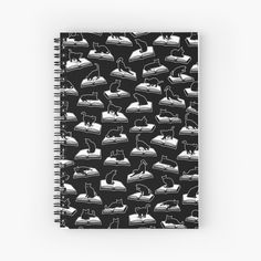 """Easily Distracted By Cats And Books Book & Cat Lover Pattern"" Spiral Notebook by GrandeDuc 