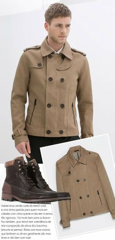 versão curta do trench coat- GAROTODEGRIFE | ESTILO e MODA MASCULINA