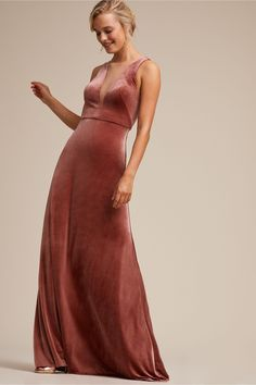 BHLDN s Jenny Yoo Logan Dress in English Rose Velvet Bridesmaid Dresses 146cf7c7b564
