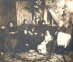 "Grigoriy Efimovich Rasputin with Bishop Hermogen of Tobolsk (centre). ""AL"""