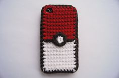 iPhone 4 and 5 Pokeball Crocheted Cover / Case (Choose your color). $19.99, via Etsy.