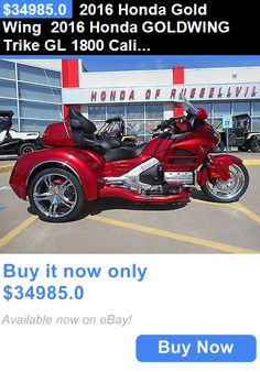 motorcycles And scooters: 2016 Honda Gold Wing 2016 Honda Goldwing Trike Gl 1800 California Sidecar Csc Hr Signature Series BUY IT NOW ONLY: $34985.0