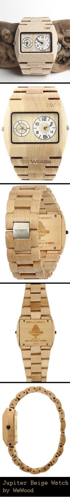 The Jupiter Beige Watch is made from 100% Wood, is hypo-allergenic and completely free of toxic chemicals. | L'orologio Jupiter, realizzato al 100% in legno. #interesting #particular