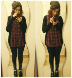 A - B - Beauty - Anita's Blog of beauty: Outfit tartan and green!