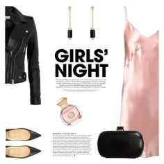 """Girls' Night"" by katsin90 ❤ liked on Polyvore featuring IRO, Christian Louboutin, Fleur du Mal, MaxMara, David Yurman, Anja and Tory Burch"