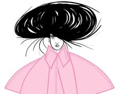 Let me wear my hair big and my cape wide like this girl in Liselotte Watkins illustration.