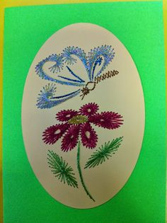 The Latest Trend in Embroidery – Embroidery on Paper - Embroidery Patterns Embroidery Cards, Cross Stitch Embroidery, Embroidery Patterns, Floral Embroidery, Sewing Cards, String Art Patterns, Paper Butterflies, Thread Art, Card Patterns