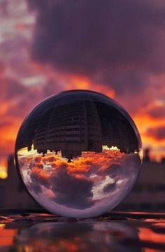 Glass Bubble Relection