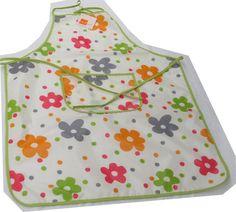 Avental PVC Margaridas Verde | Tecido Plastificado | Impermeaveis | Aventais | Cozinha |Standard | Marmair