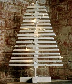 Eco Wooden Tabletop Christmas Tree